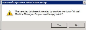 System Center VMM 2012 - Warning