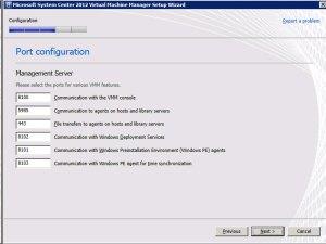 System Center VMM 2012 - Ports