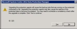 DPM Upgrade Warning