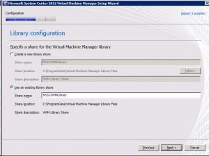 System Center VMM2012 - Library