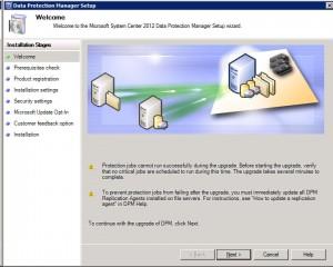 DPM Welcome Screen