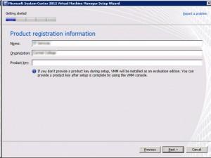 System Center VMM 2012 -Registration