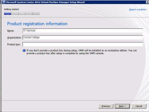 System Center VMM 2012 -Registration