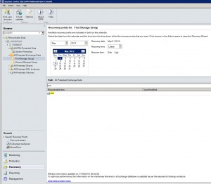 System Center Data Protection Manager 2012 - Select Mailbox