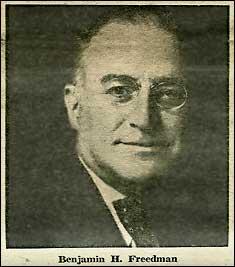 """freedman benjamin Discurs ţinut de Benjamin H. Freedman, consilierul preşedintelui W. Wilson, în 1961. Despre sionisti   Istoria care nu se invata la """"Istorie"""""""