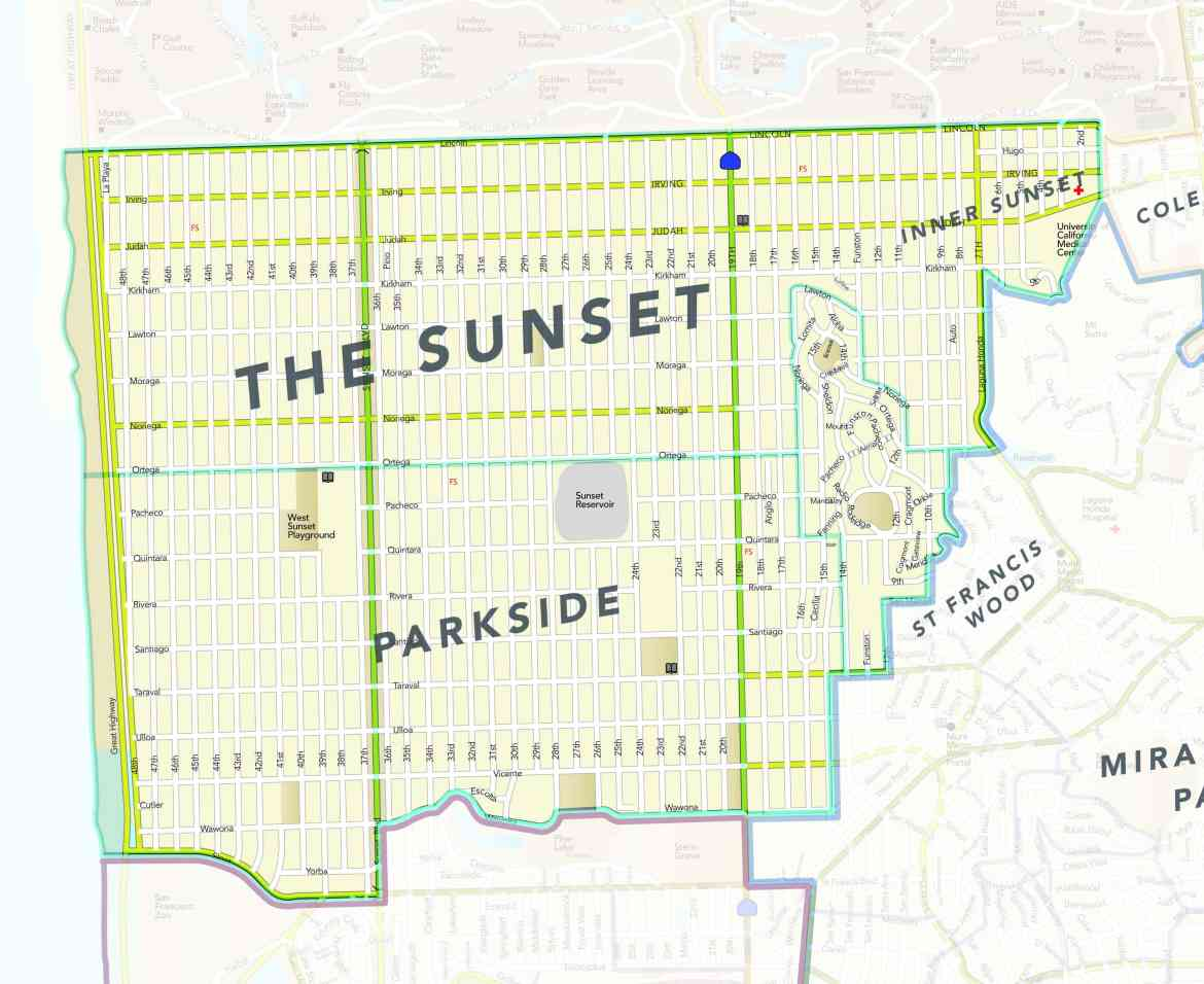 District 2: Towards the Beach, South of the Park