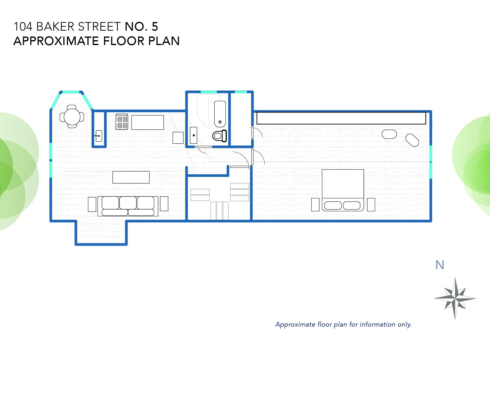 104 Baker's Floor Plan (approximately)