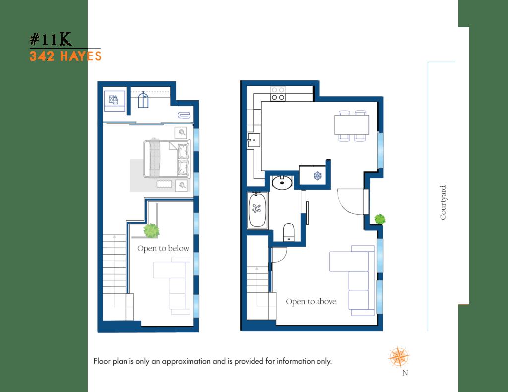 #11Ks approximate floor plan