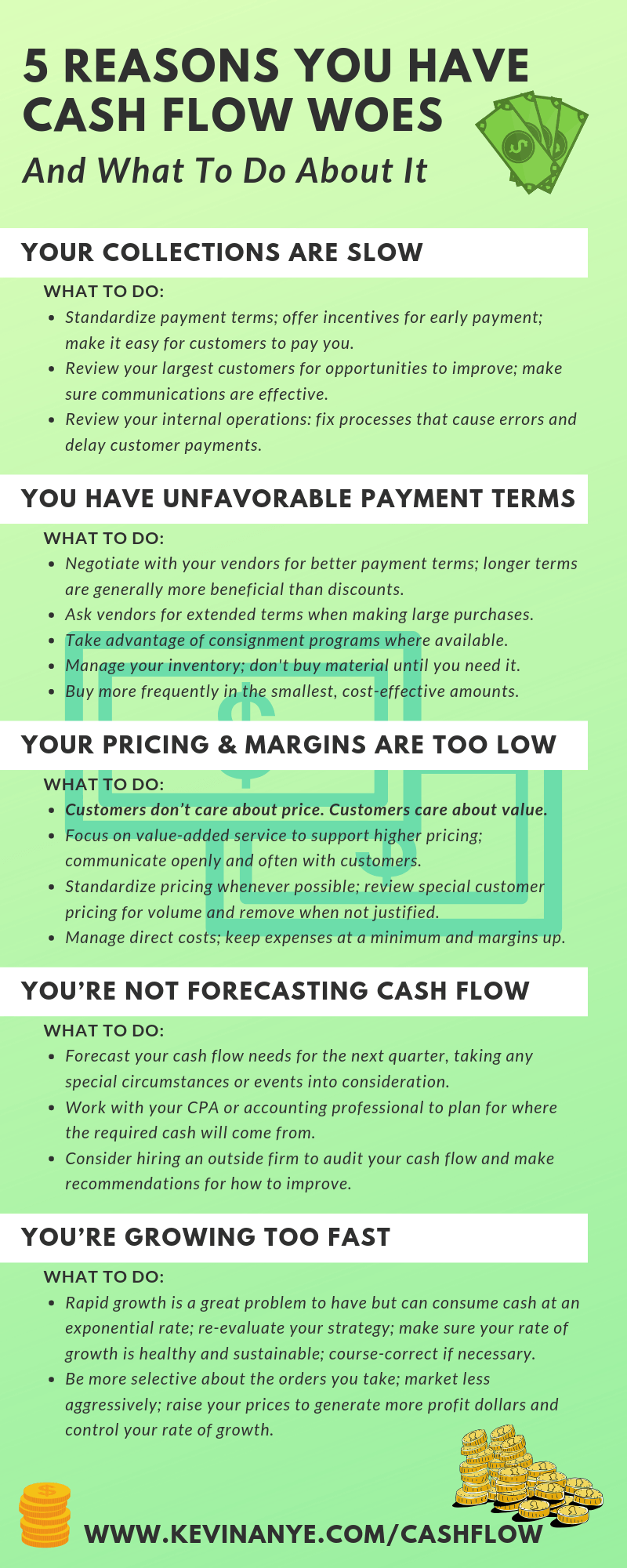 5 Reasons You Have Cash Flow Woes and What To Do About It