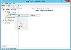 deploy vnc via group policy