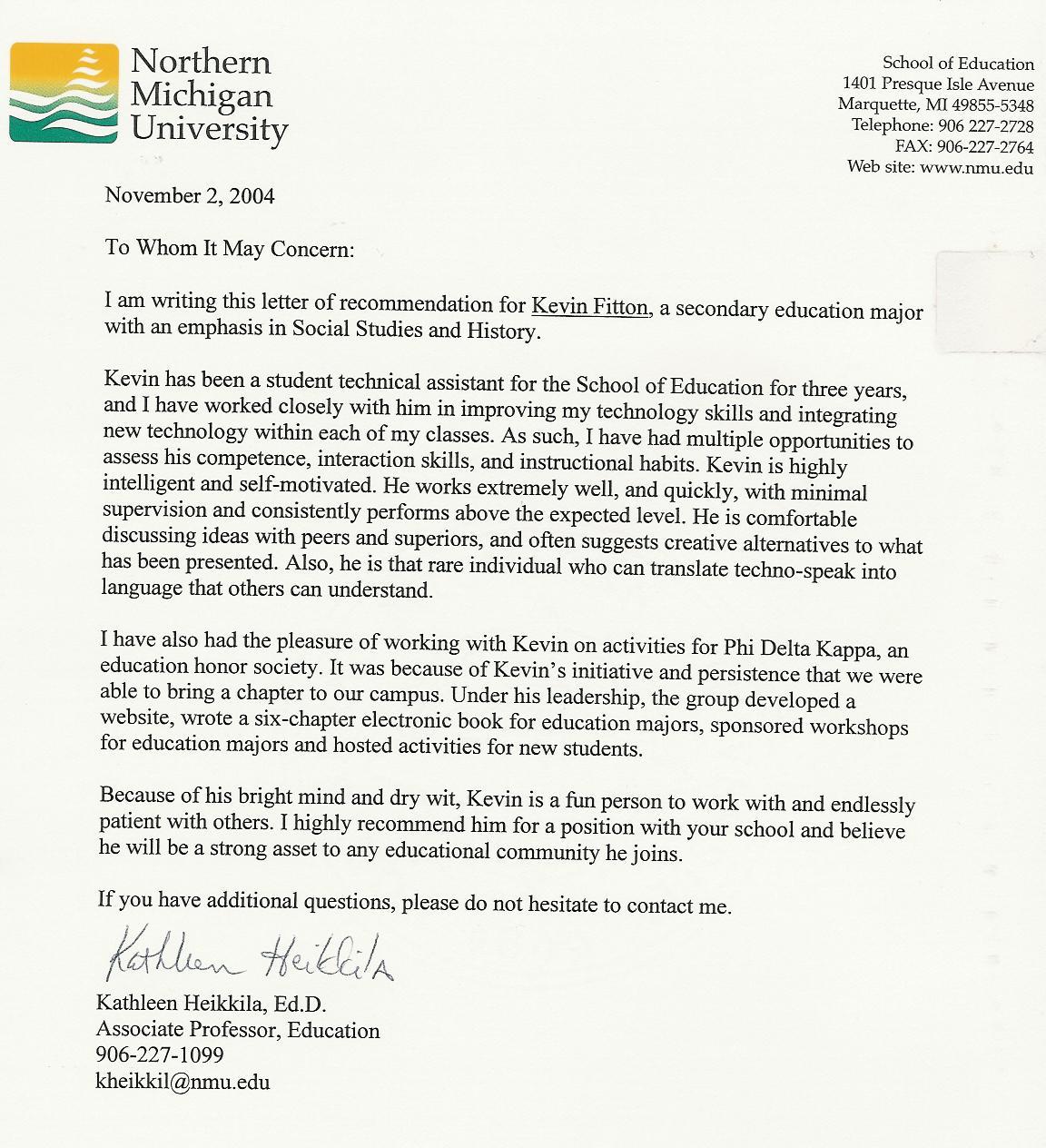 Cover Letter Sample College Professor Position