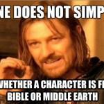 Obscure Bible Character or Character from Lord of the Rings?