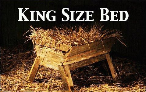 King Sized Bed Jesus Manger Christmas Bible Verses