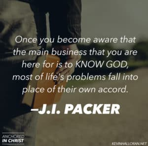 J I Packer quote about Knowing God and Lifes Problems