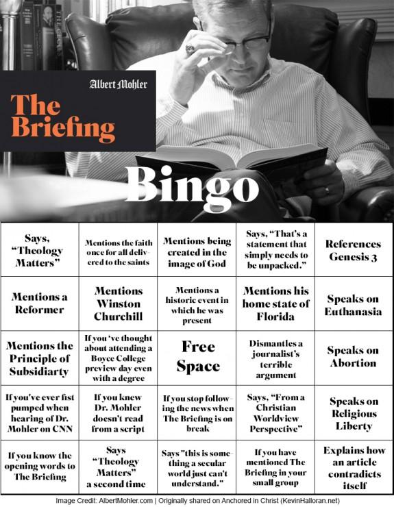 The Briefing Bingo