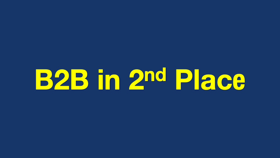 B2B Marketing in 2nd Place