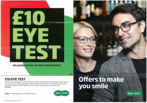 Specsavers £10 eye test offer