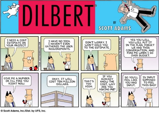 Dilbert-cost-estimation