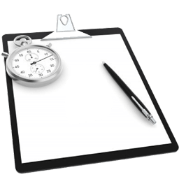 Event management clipboard and stopwatch