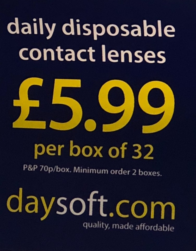 Your disposable lenses will cost you a lot more than £5.99