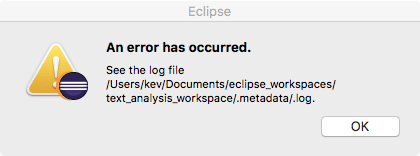 Eclipse Oxygen 1 on MacOS fails at startup with Java 9 as system