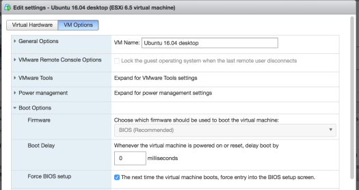 Expanding the disk size for an Ubuntu guest on VMware ESXi