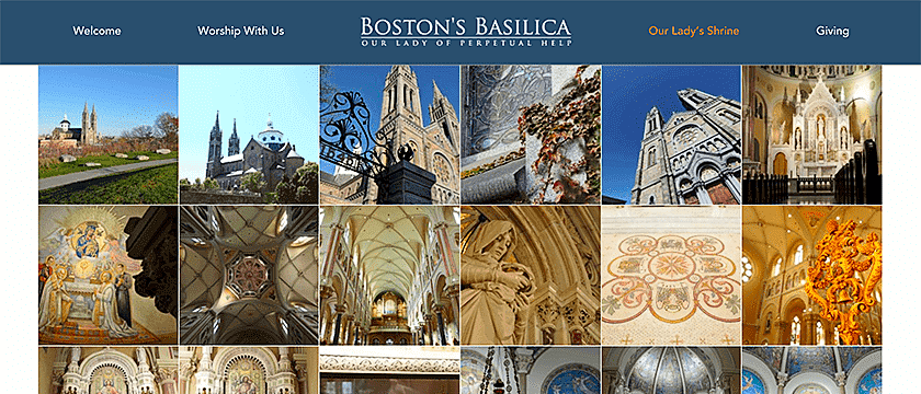 Web Design, CMS Development Web Development Project Screenshot for Boston's Basilica