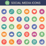 36 Cool Free Social Media Icons