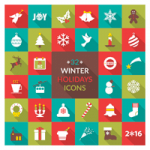 32 Free Festive Winter Holiday Icons