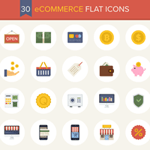A Beautiful Free eCommerce Flat Icon Set