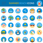A Fantastic Free Summer Beach Icon Set
