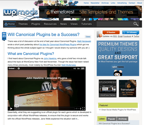 WP Mods - WordPress Themes, Plugins and Modifications