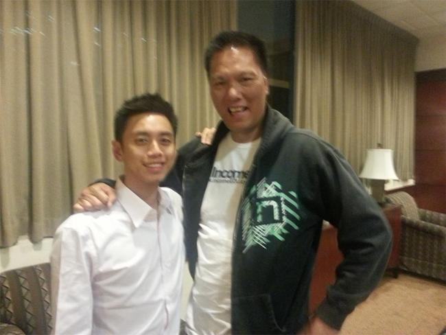 Peng Joon and John Chow