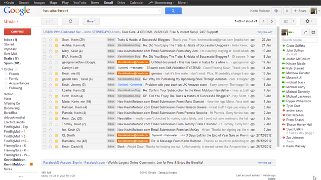 Gmail Attachments