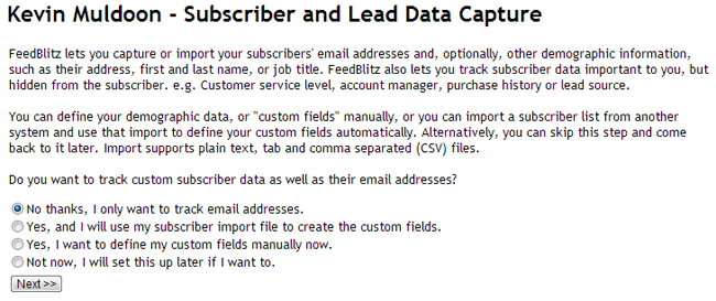 Subscriber and Lead Data Capture