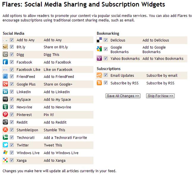FeedBlitz Social Media Sharing and Subscription Widgets