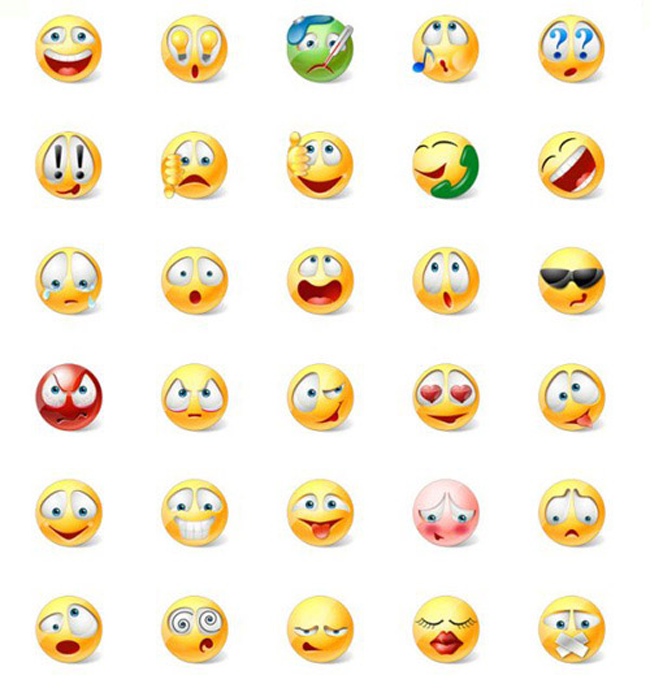 Vista Style Emoticons Icons