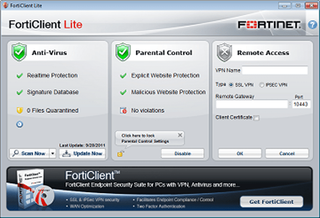 FortiClient Lite Free Internet Security
