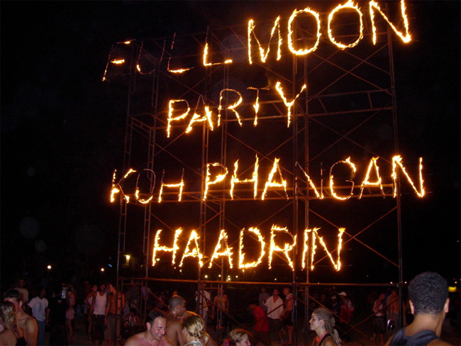 Go to the Full Moon Party in Thailand