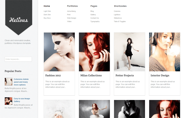 Helious WordPress Theme