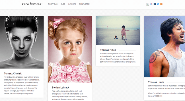 New Horizon WordPress Theme