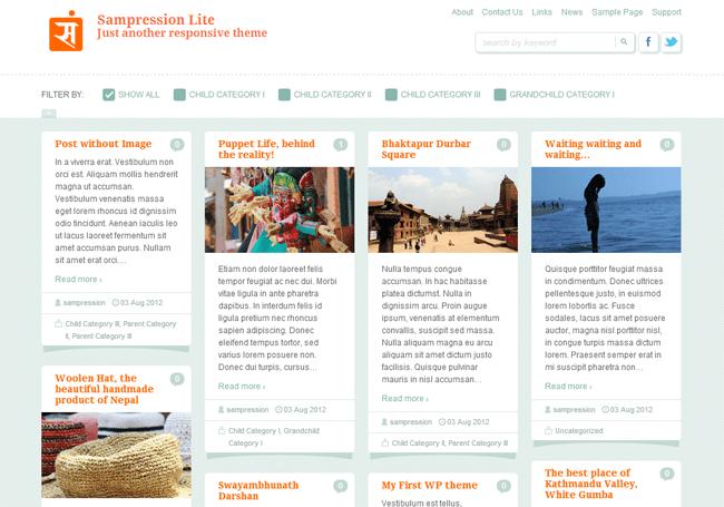 Sampression Lite WordPress Theme