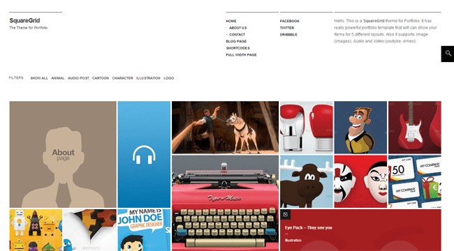 SquareGrid WordPress Theme