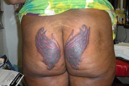 On asshole tattoo Butterfly