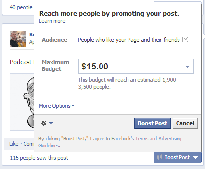 Facebook Post Promotion