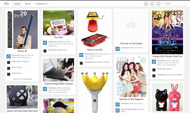 iPin WordPress Theme