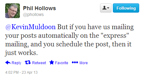 Phil Hollows on Twitter