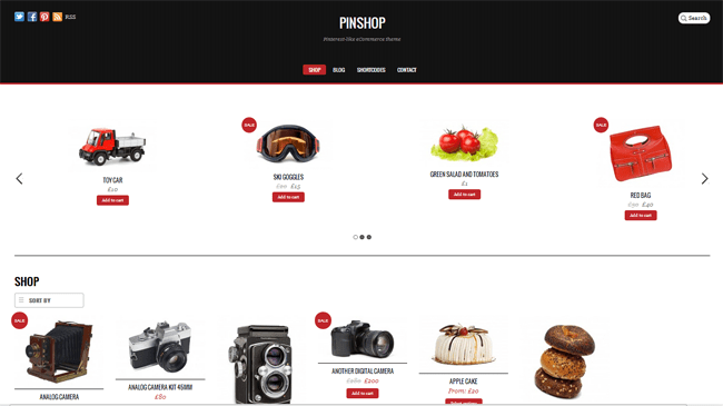 Pinshop WordPress Theme