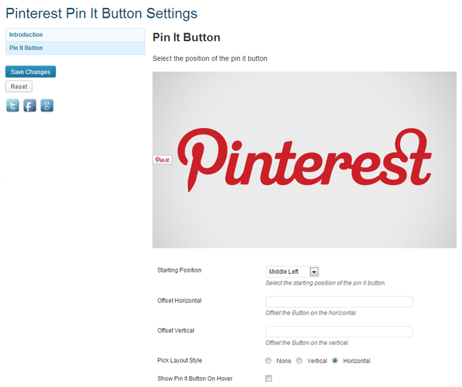 Pinterest Pin It Button Plugin
