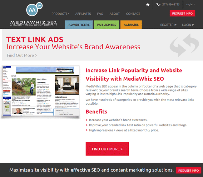 Media Whiz SEO Selling Text Links